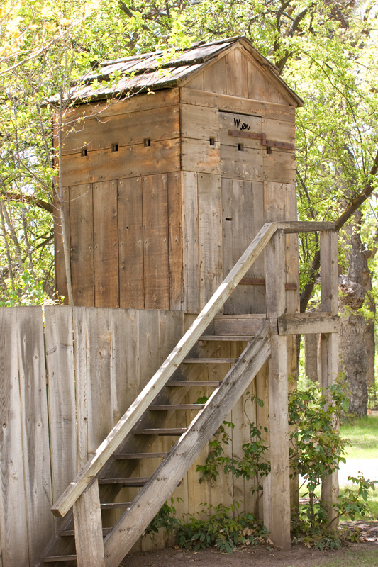 His & Hers Outhouse...