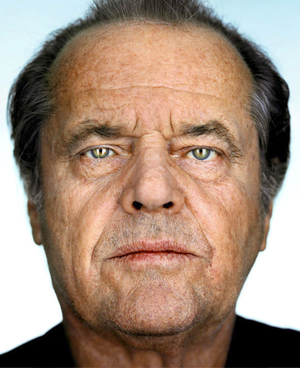 Jack Nicholson before processing...