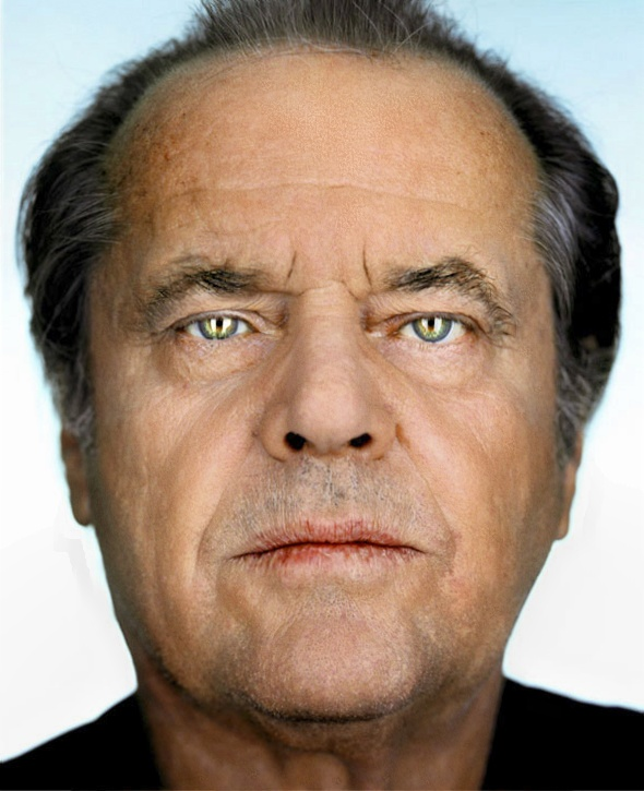 Jack Nicholson after processing....