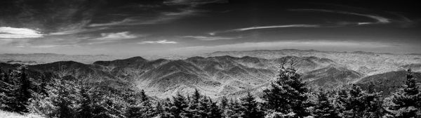 Pano from atop Mt Mitchell...