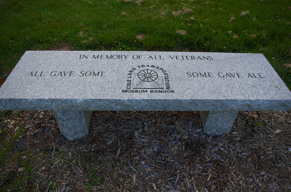 A bench in our town park given to various towns by...