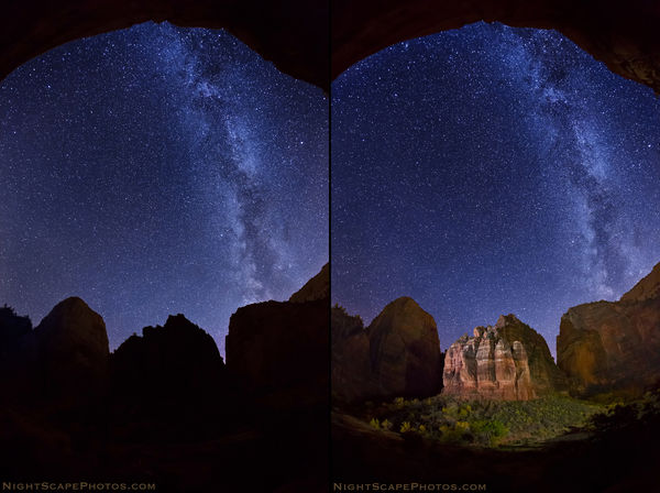 Is light painting appropriate in astro landscape photography before and after light painting of the organ aloadofball Image collections