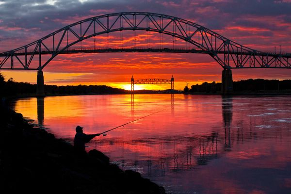 Cape Cod Canal Sunset