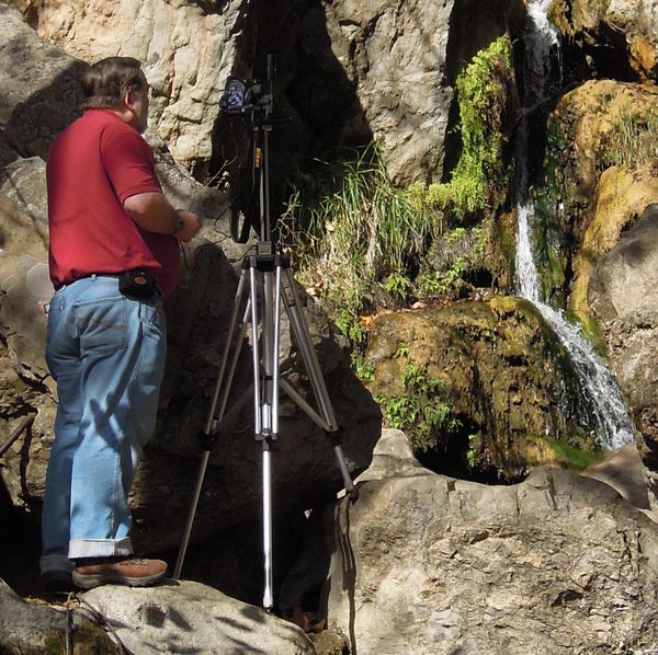 Shooting HDR at Solstice Canyon Waterfall, above M...