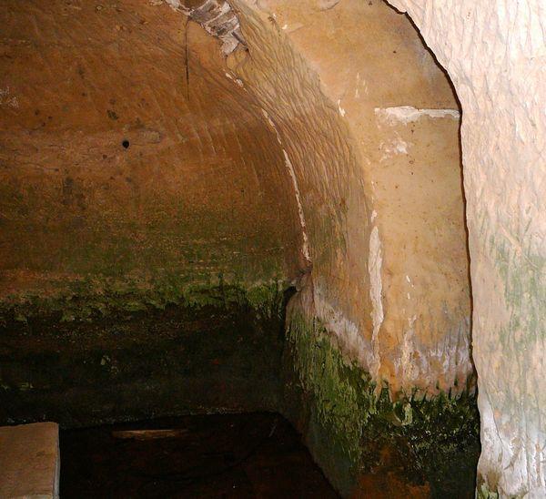 Inside faris caves...