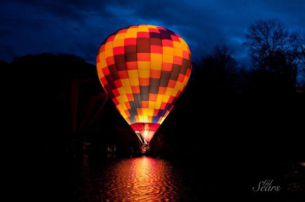 Hot Air <b>Balloon</b> At <b>Night</b> Wallpaper