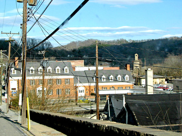 Ronceverte, WV - Upper right is CSX Railroad Coali...
