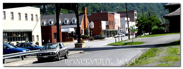 Ronceverte, WV - US Post Office, left border, faci...