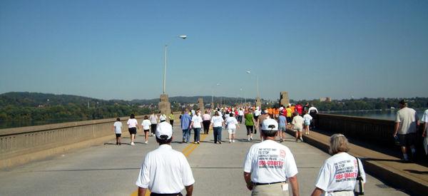 Walk for Diabetes over the Suesquehanna River...