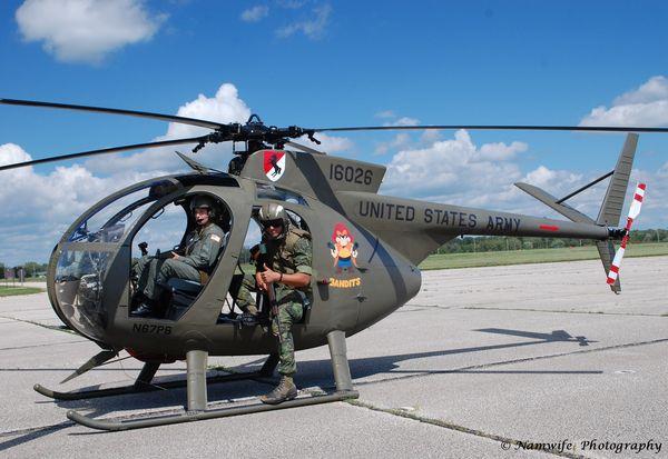 2 Hueys and an OH-6 (Loach)