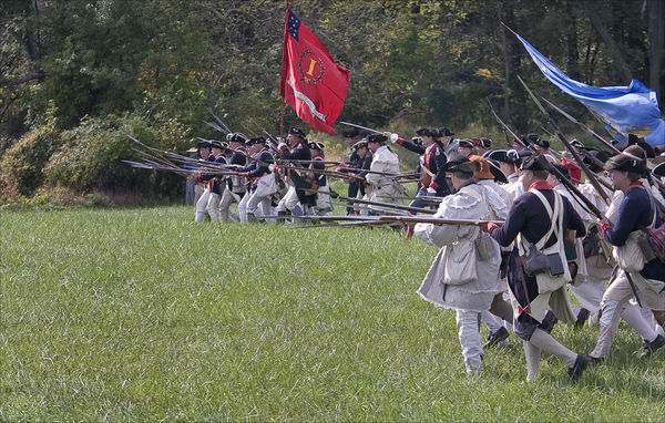 A rarity in Revolutionary War Reenactments