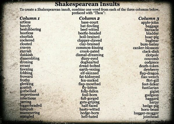 insults list