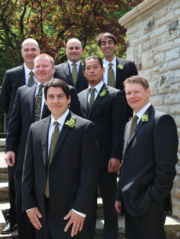 Groomsmen at Tom's wedding...