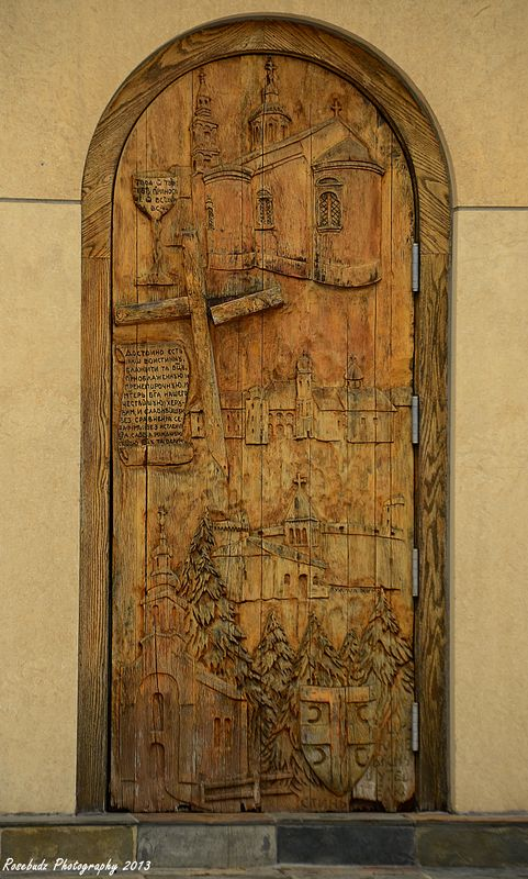 Detail on side door...