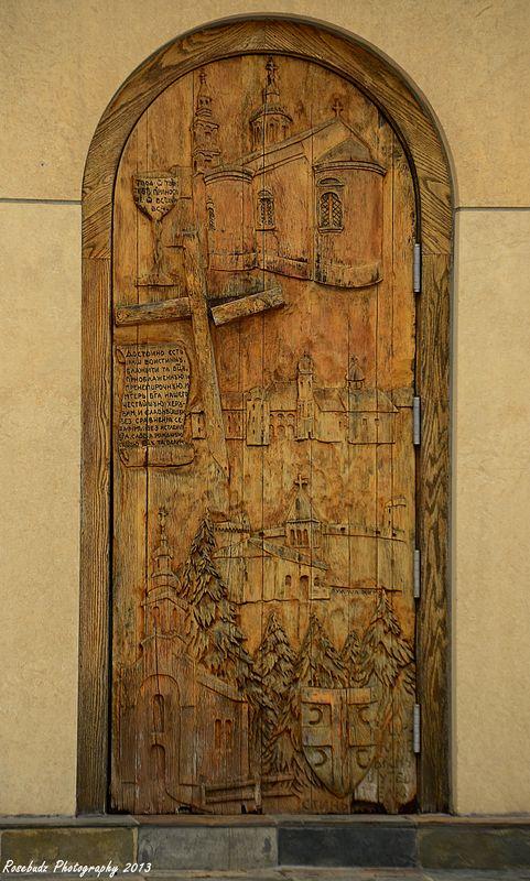 Detail on side door...