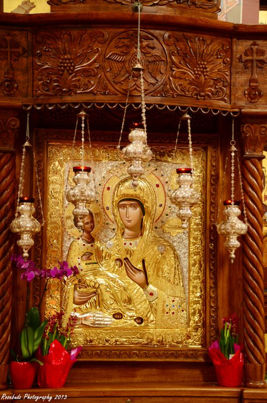 Icon of The Virgin Mary and baby Jesus...