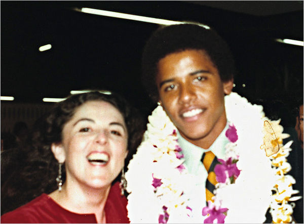 Obama and his mother...