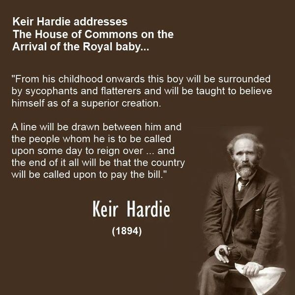 Keir Hardie Talking About The Royal Baby : Scotland