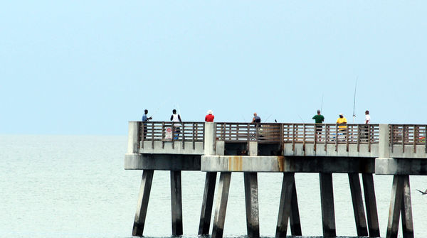Summer at the beach for Jacksonville fishing pier