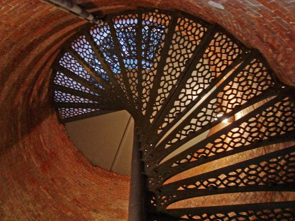 Stairway up West Quoddy Head Light...