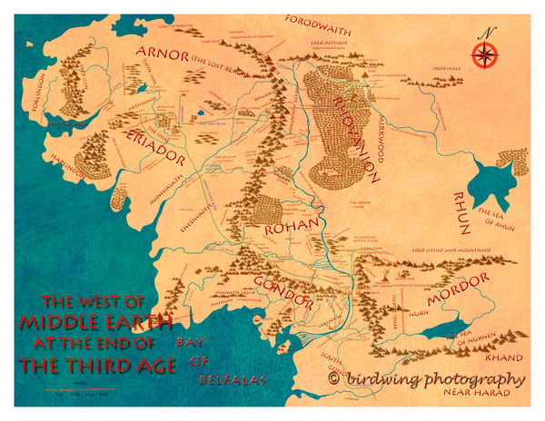 full size map of middle earth