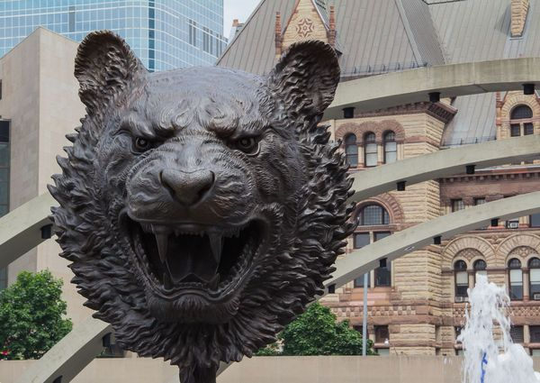 Bronze Animal Head Connection: Last year Toronto's...