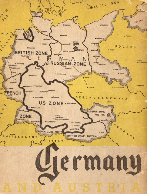 Map Of Germany Occupation Zones.How Nazi Germany Was Divided Into Occupation Zones In 1945