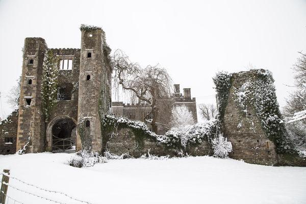 Pencoed Castle Llanmartin Wales