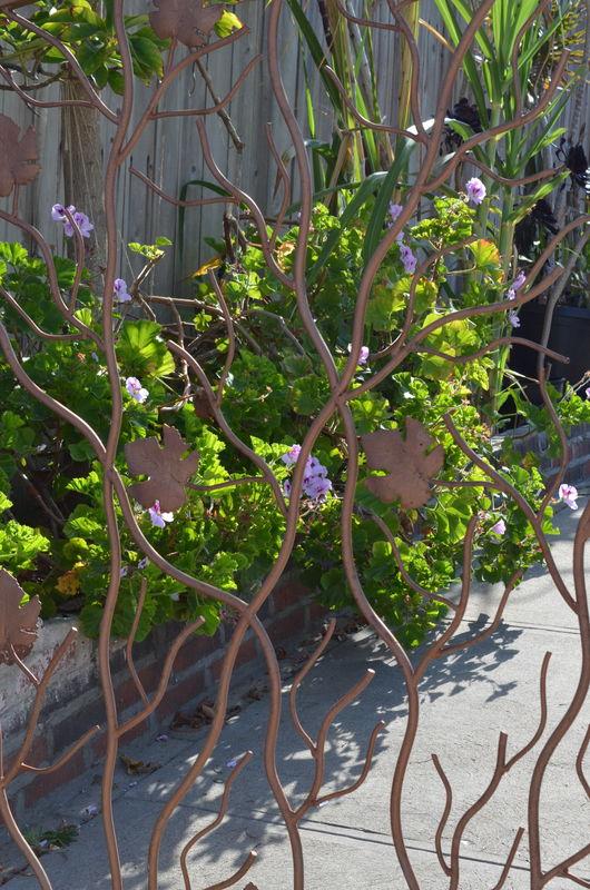 Custom driveway gate and flowers...
