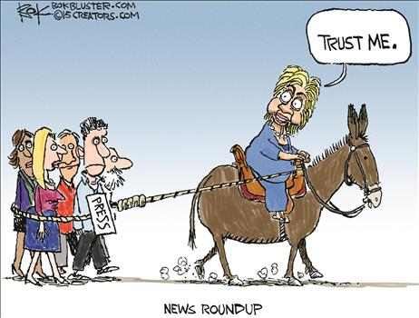 Trust political cartoon