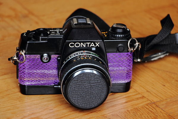 Contax, with Purple Lizard leather skin!...