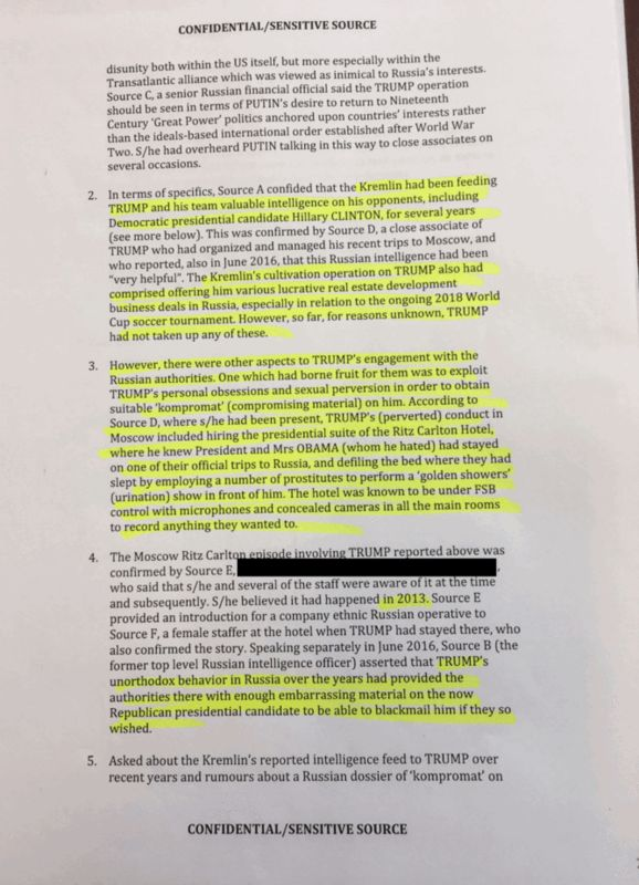 Here S The Full Dossier From British Intelligence Source