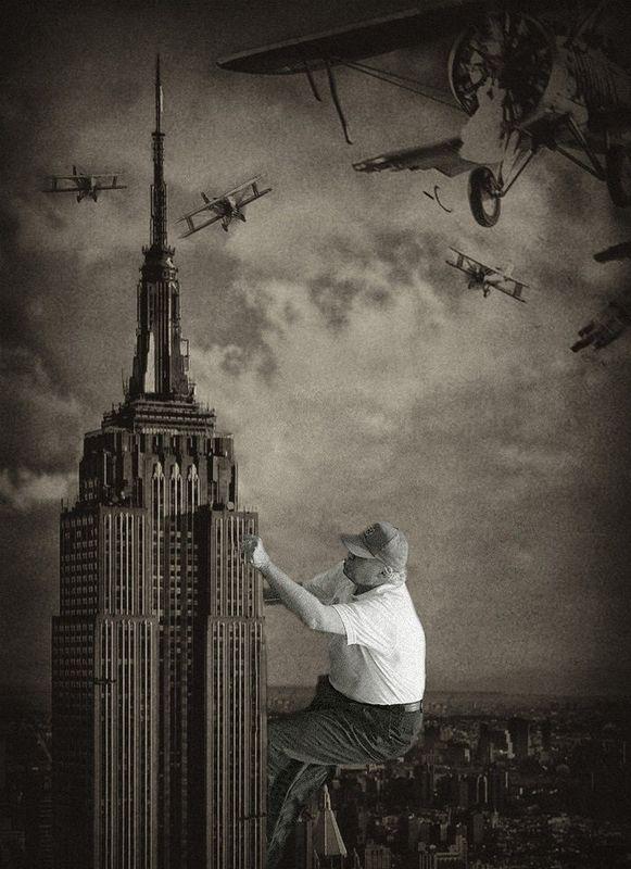 Trump Climbing Up A Golf Course Green Launches A Photoshop
