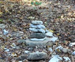 Stacked Rocks From The trail back to Eden Falls, P...
