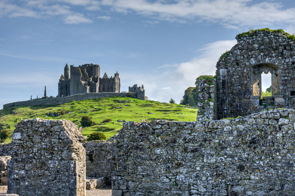The Rock of Cashel as seen from Hore Abbey, County...
