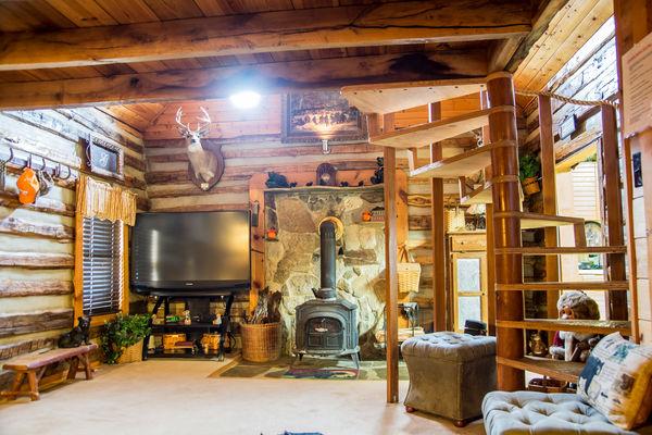inside the cabin...