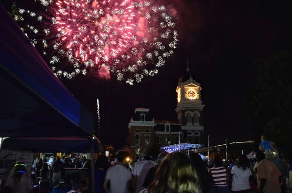 A July 4th moment on the hometown square...