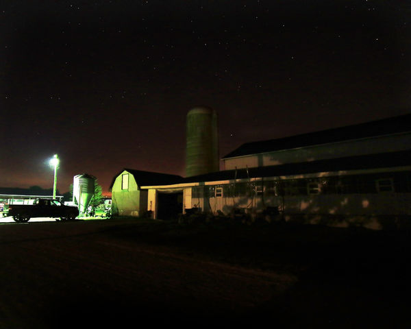 After it was completely dark I took a picture of o...