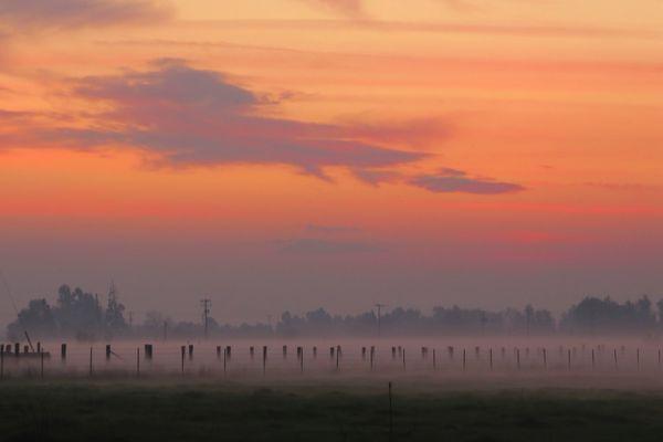 Winter Sunset w/Groundfog...