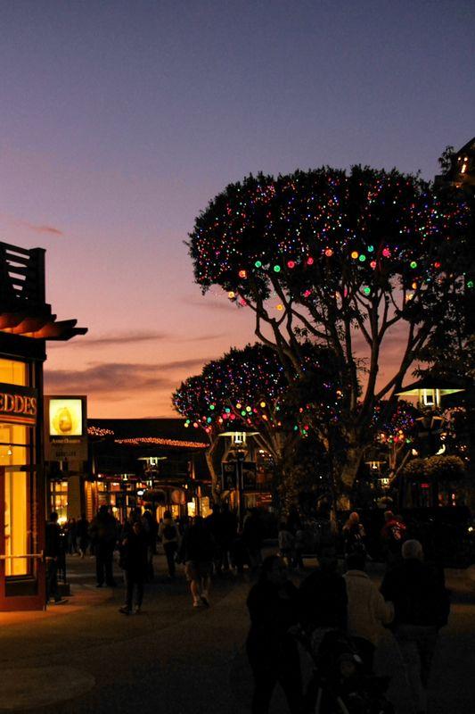 Sunset at Downtown Disney...