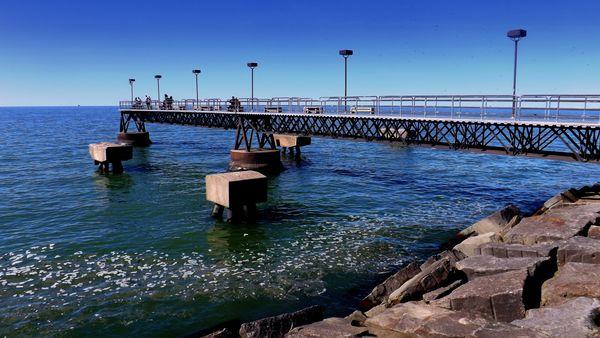 Edgewater pier...