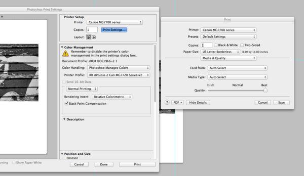 Canon MG7720 Printer /Red River ICC profiles
