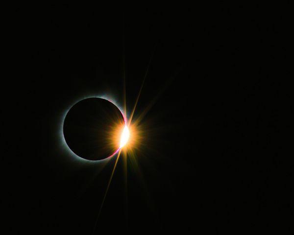 "captured the elusive ""diamond ring""..."