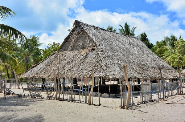 Maneaba Meeting House, Abaiang Island, Kiribati...