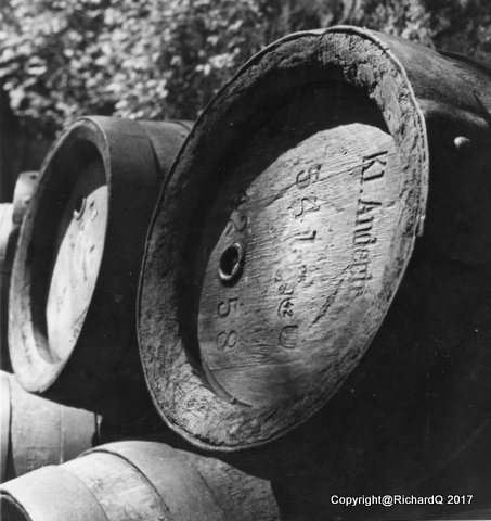 Discarded beer kegs from Bavaria's Kloster Andechs...