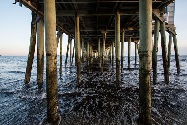 Under the Pier - Old Orchard Beach, Maine...