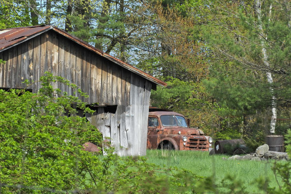 2 in 1 - Old barn and pickup truck....