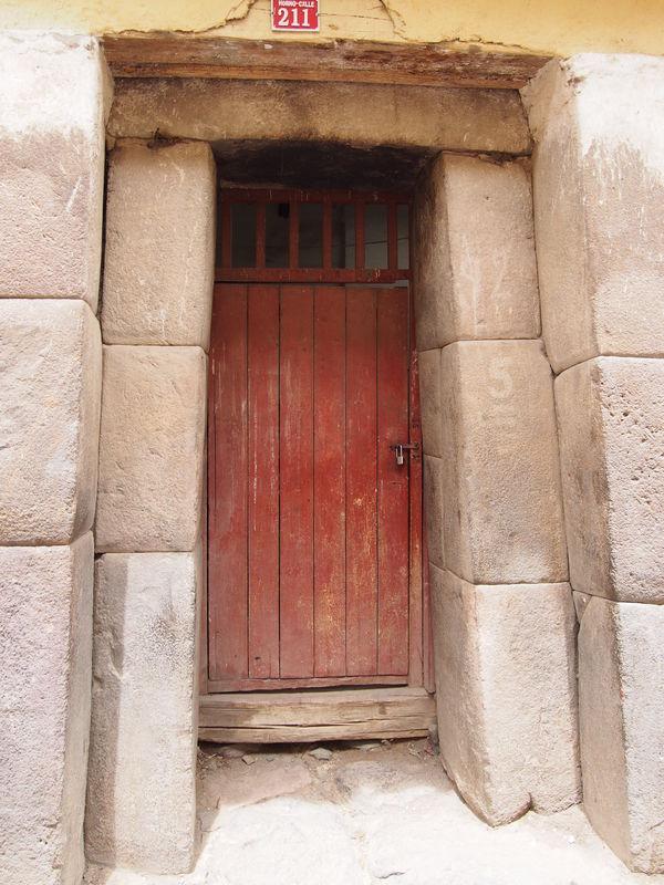 Doorway in ancient Incan city...