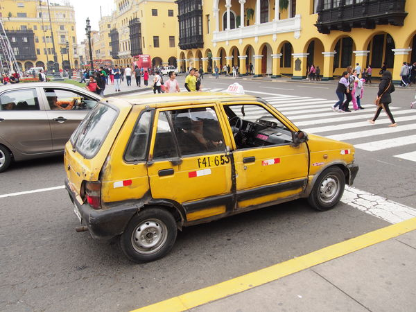 Eking out a living in Lima...