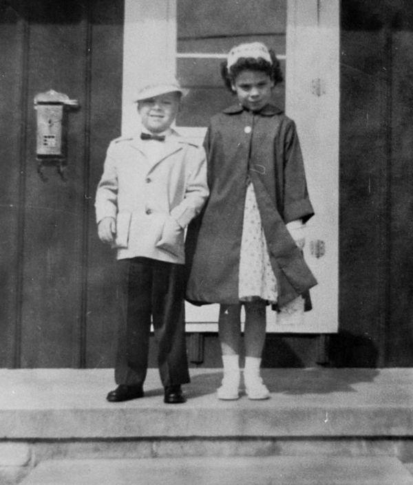 around 1956 me and sis...